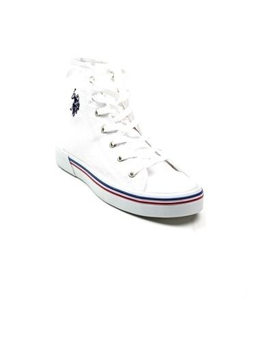 U.S. Polo Assn. Penelope High 1Fx Erkek Sneaker Beyaz